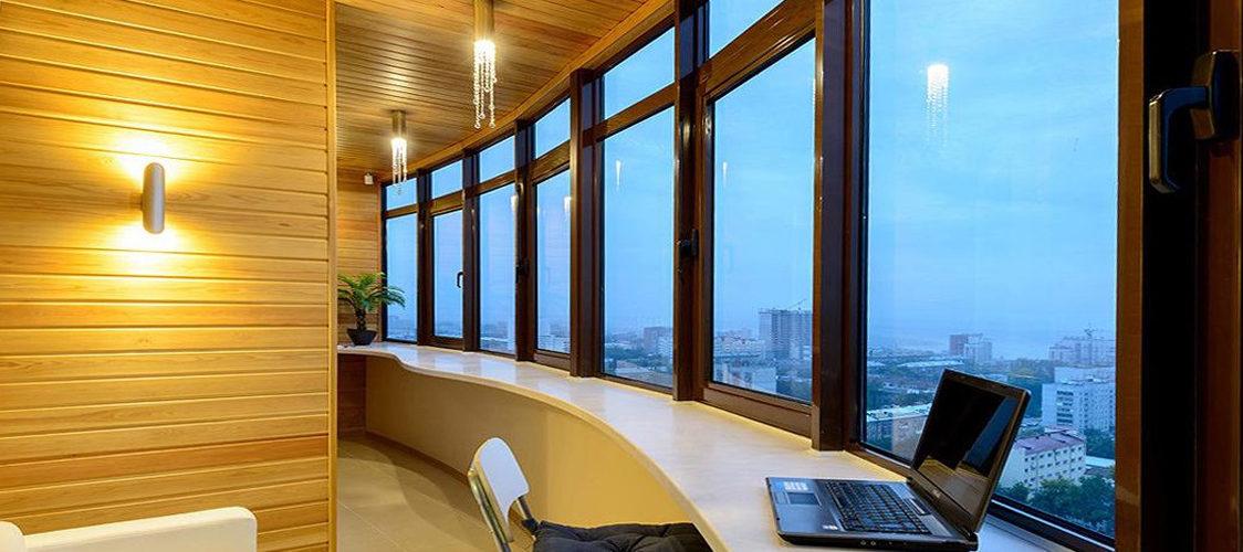 Отделка лоджий и балконов под ключ